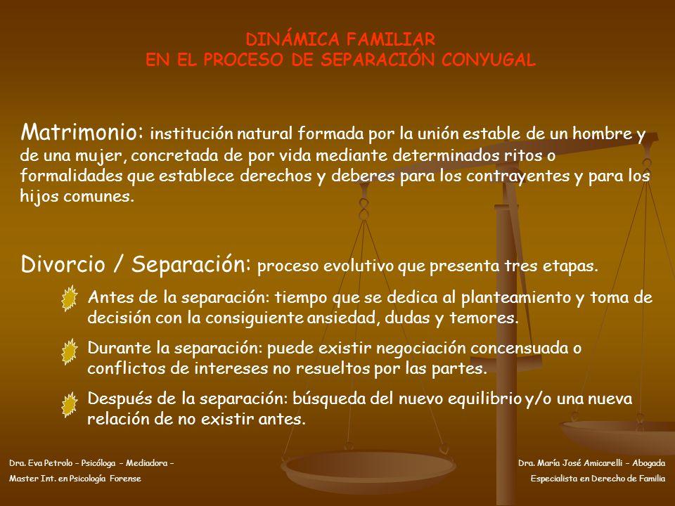 EN EL PROCESO DE SEPARACIÓN CONYUGAL