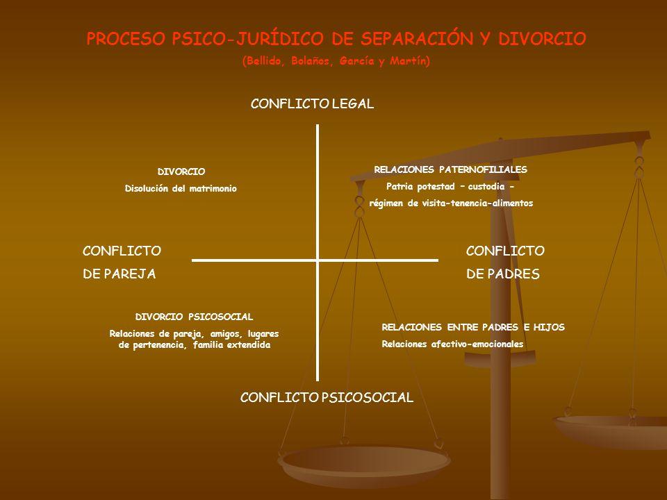 PROCESO PSICO-JURÍDICO DE SEPARACIÓN Y DIVORCIO