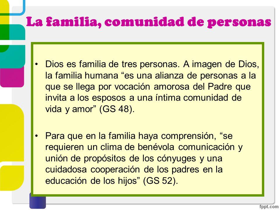 La familia, comunidad de personas