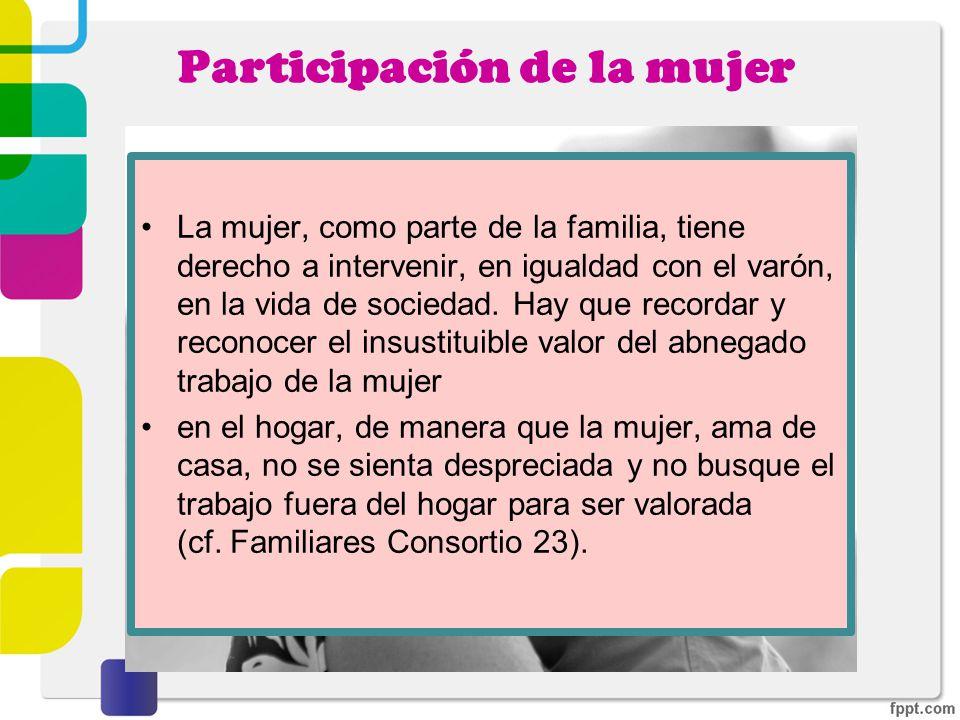 Participación de la mujer