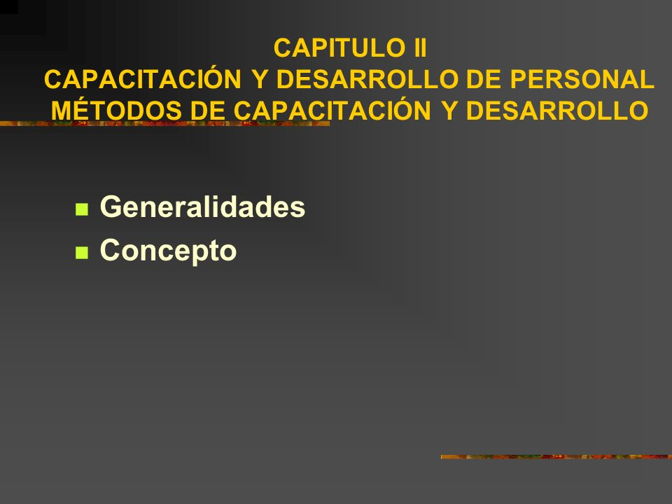 Generalidades Concepto
