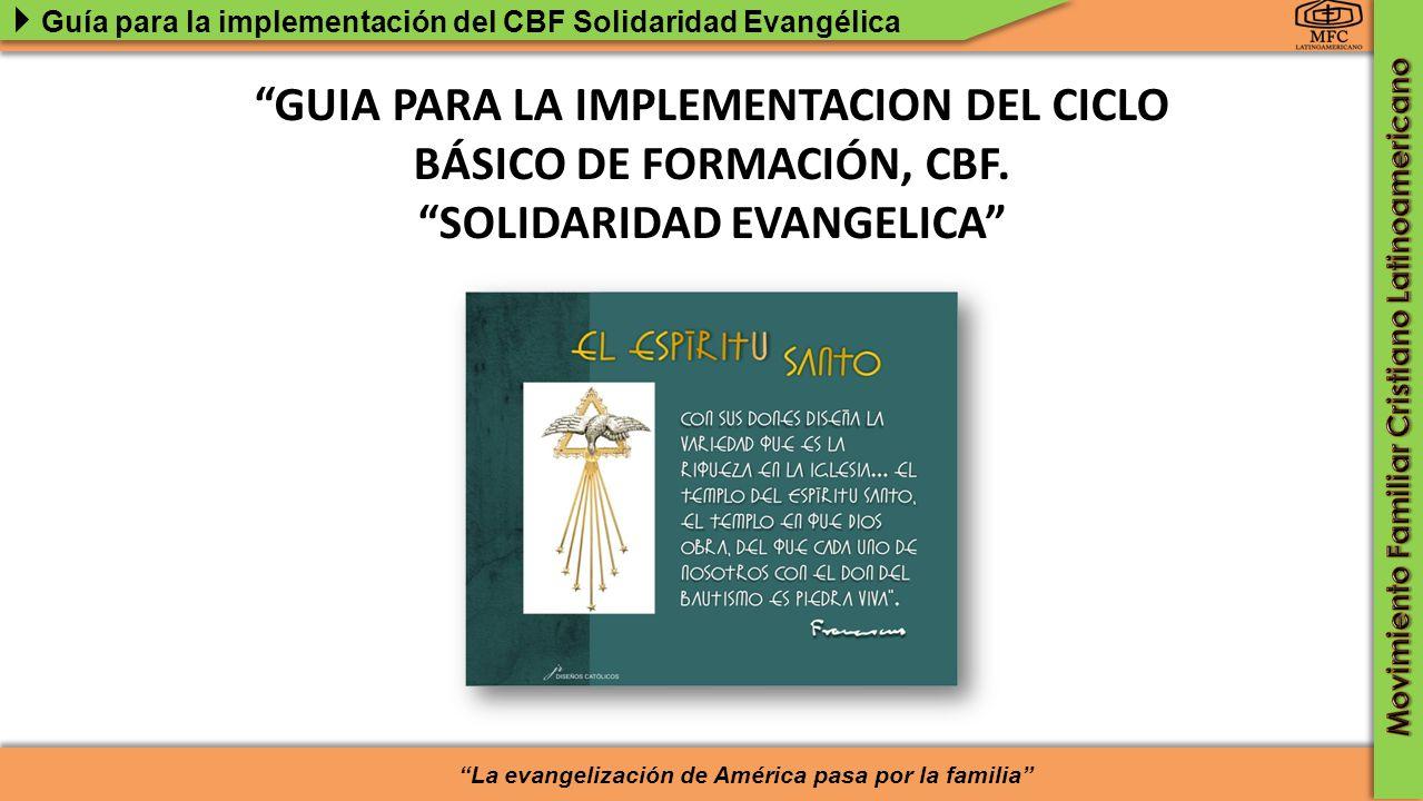 GUIA PARA LA IMPLEMENTACION DEL CICLO BÁSICO DE FORMACIÓN, CBF.