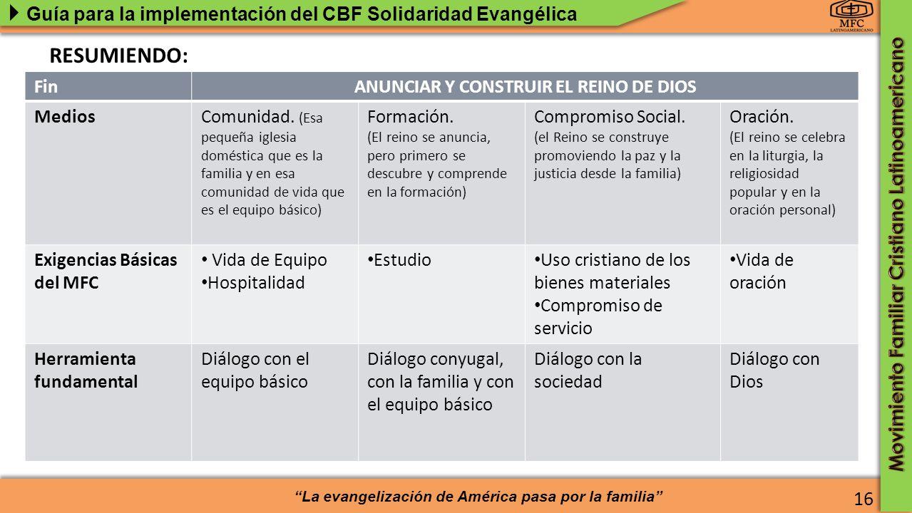ANUNCIAR Y CONSTRUIR EL REINO DE DIOS