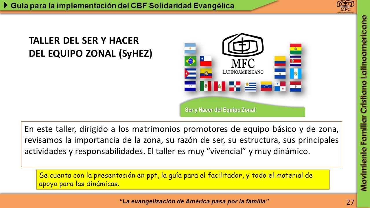 TALLER DEL SER Y HACER DEL EQUIPO ZONAL (SyHEZ)