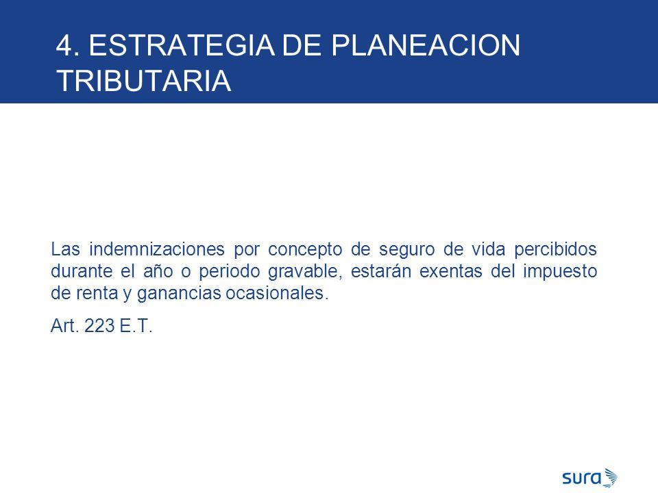 4. ESTRATEGIA DE PLANEACION TRIBUTARIA