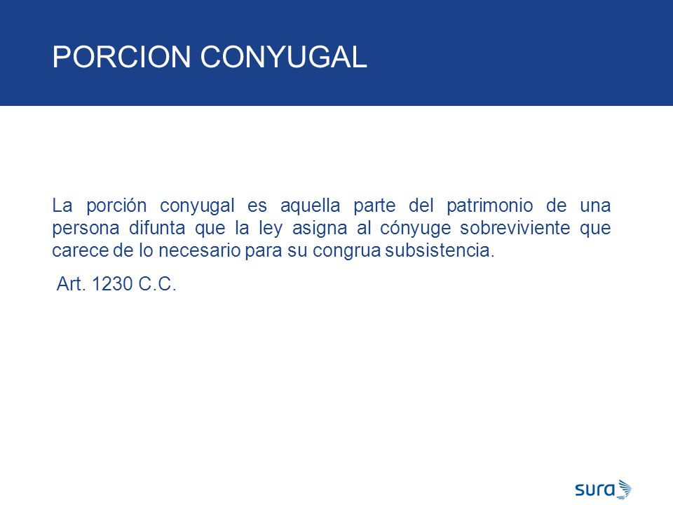 PORCION CONYUGAL