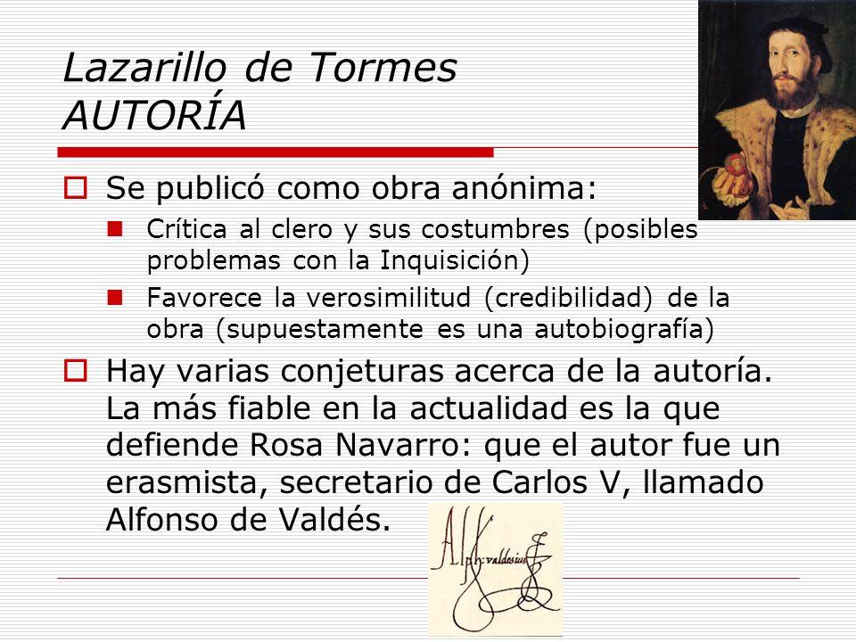 Lazarillo de Tormes AUTORÍA