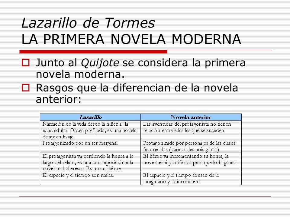 Lazarillo de Tormes LA PRIMERA NOVELA MODERNA