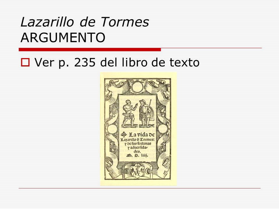 Lazarillo de Tormes ARGUMENTO