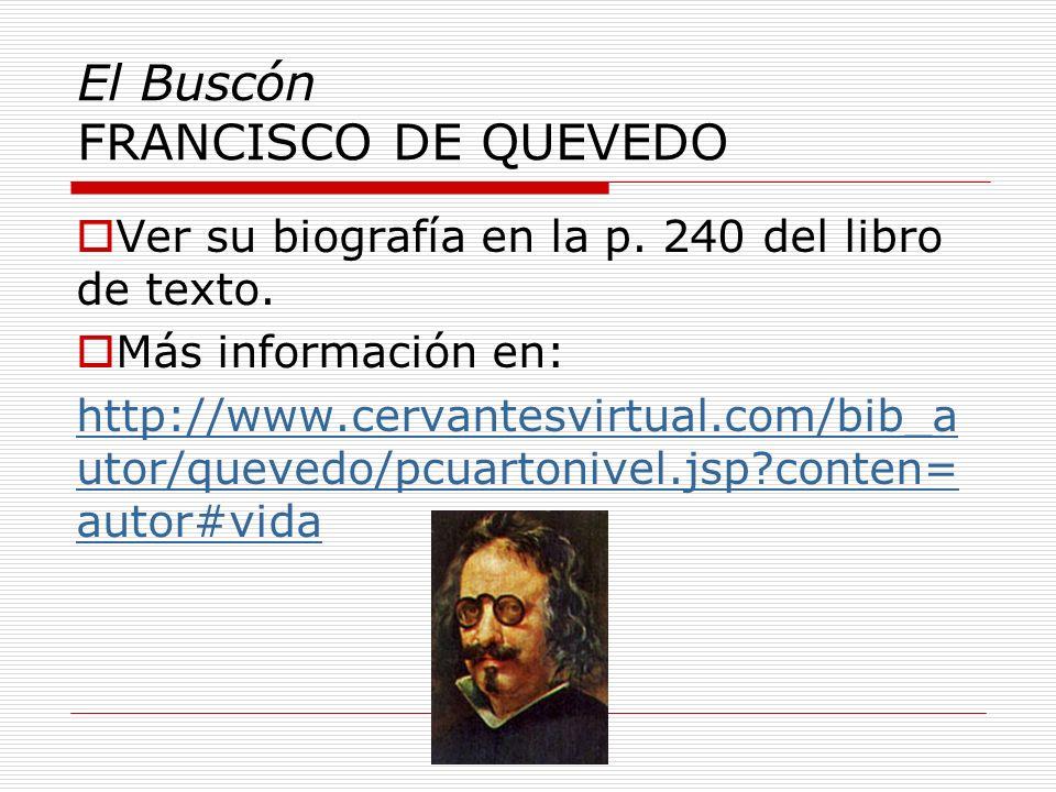 El Buscón FRANCISCO DE QUEVEDO