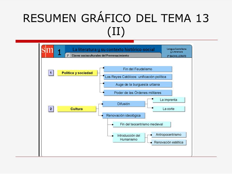 RESUMEN GRÁFICO DEL TEMA 13 (II)