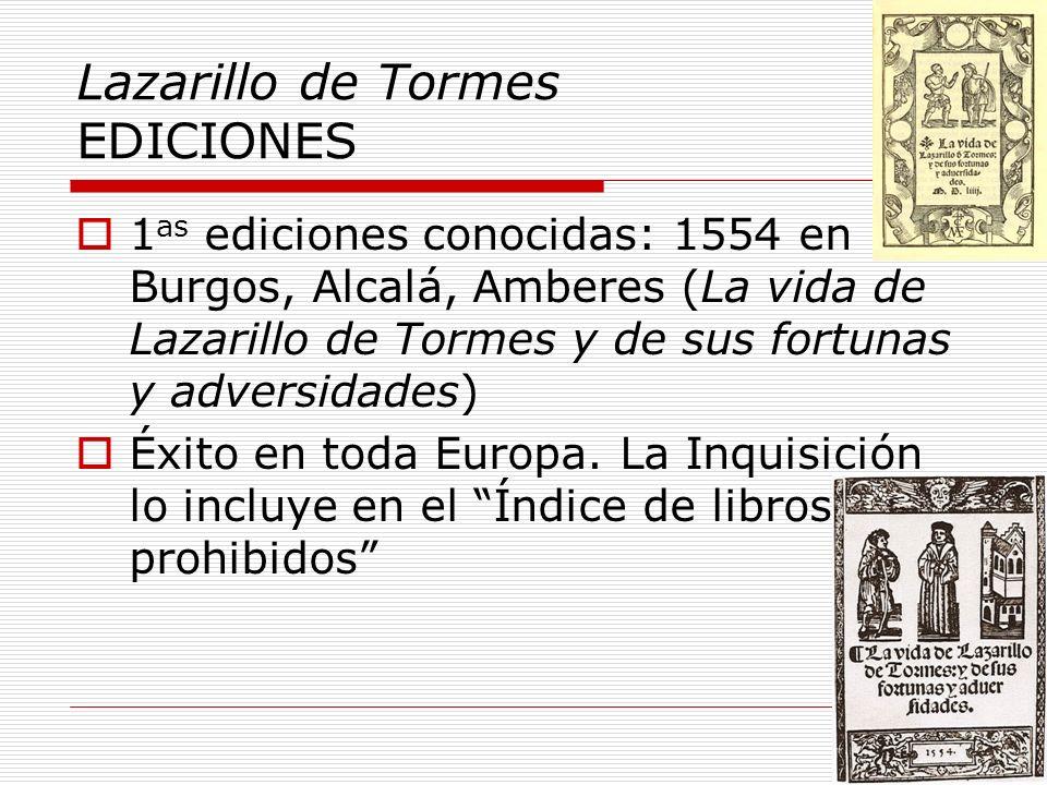 Lazarillo de Tormes EDICIONES