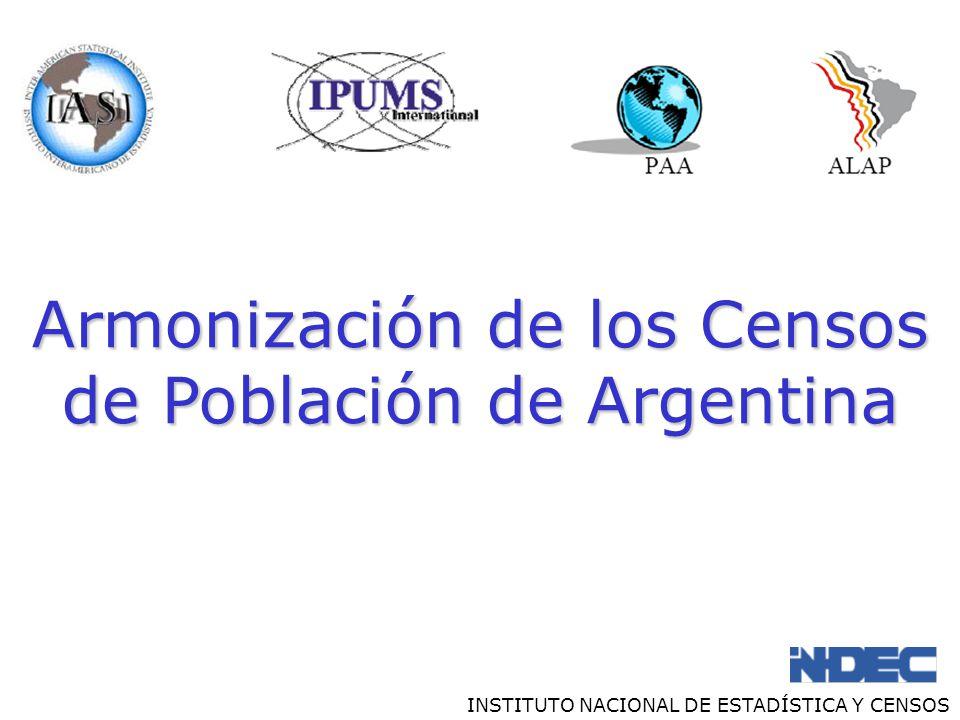 Armonización de los Censos de Población de Argentina