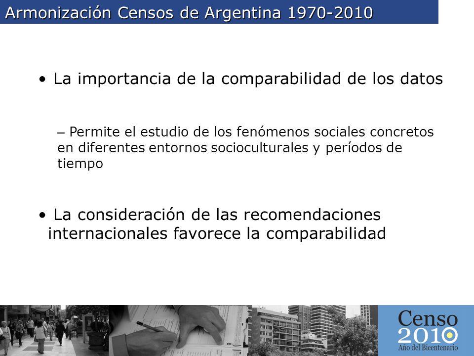 Armonización Censos de Argentina 1970-2010