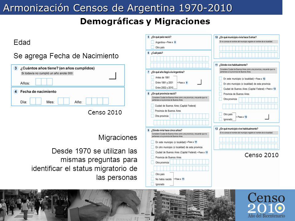 Demográficas y Migraciones