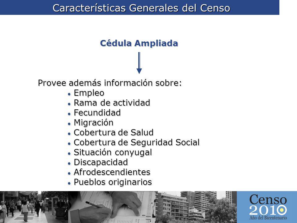 Características Generales del Censo