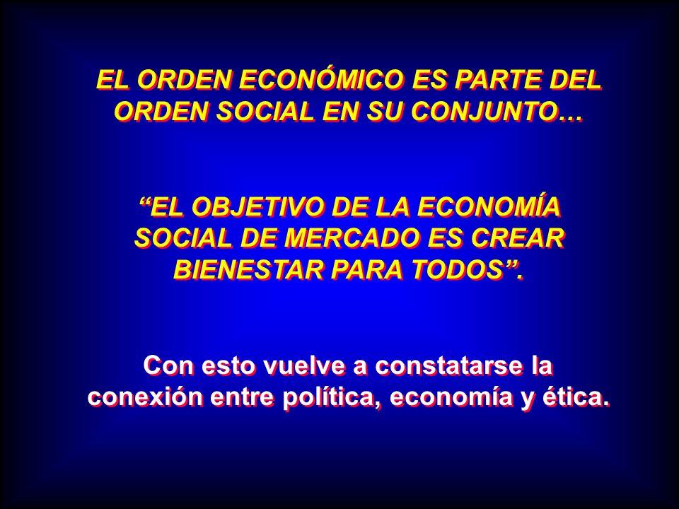 EL ORDEN ECONÓMICO ES PARTE DEL ORDEN SOCIAL EN SU CONJUNTO…
