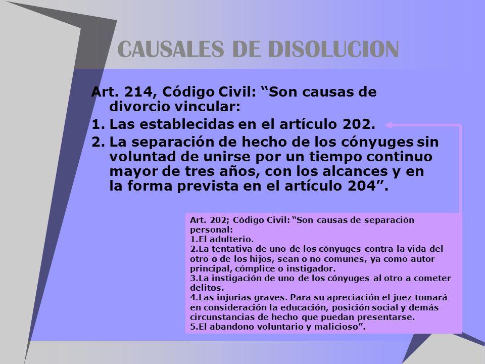 CAUSALES DE DISOLUCION