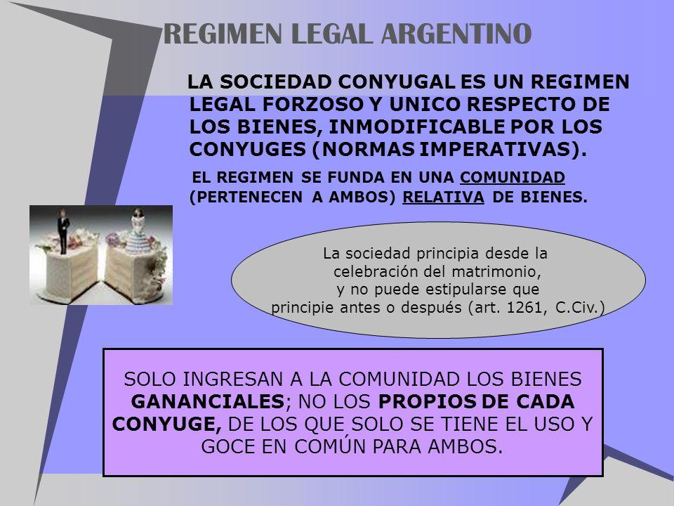 REGIMEN LEGAL ARGENTINO
