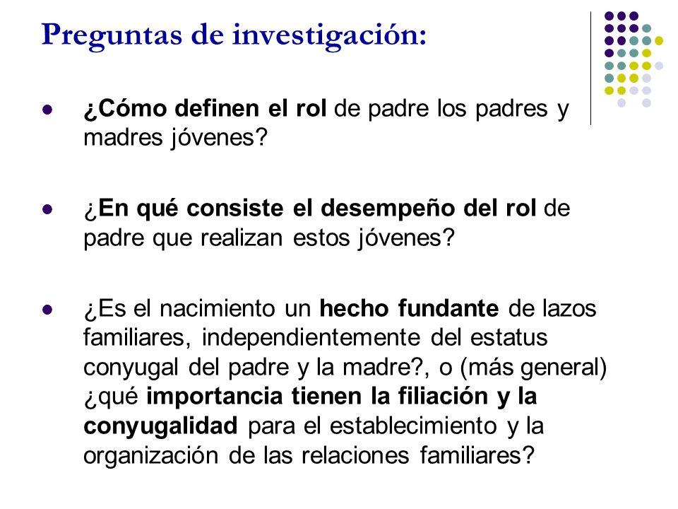 Preguntas de investigación: