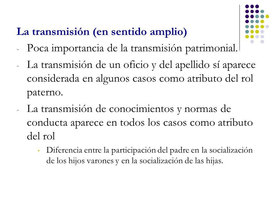 La transmisión (en sentido amplio)