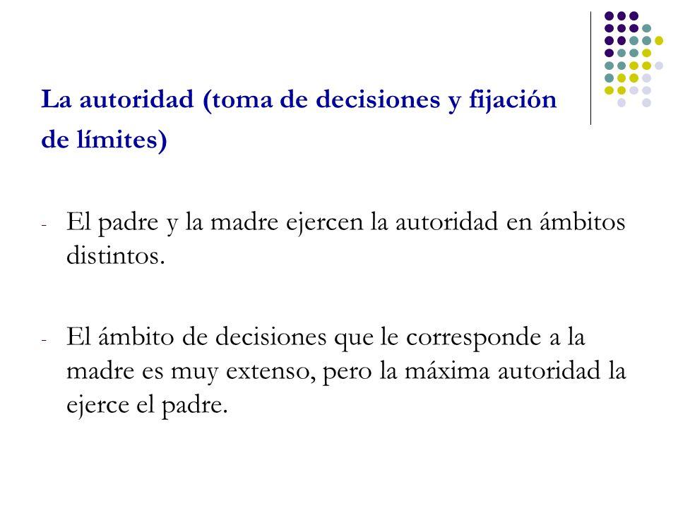 La autoridad (toma de decisiones y fijación