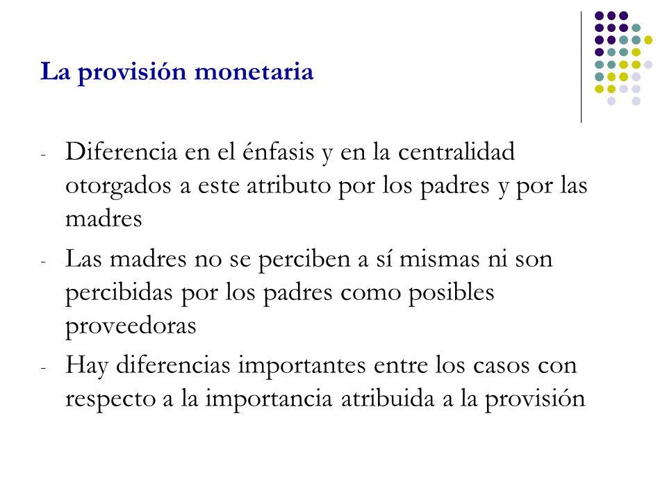 La provisión monetaria