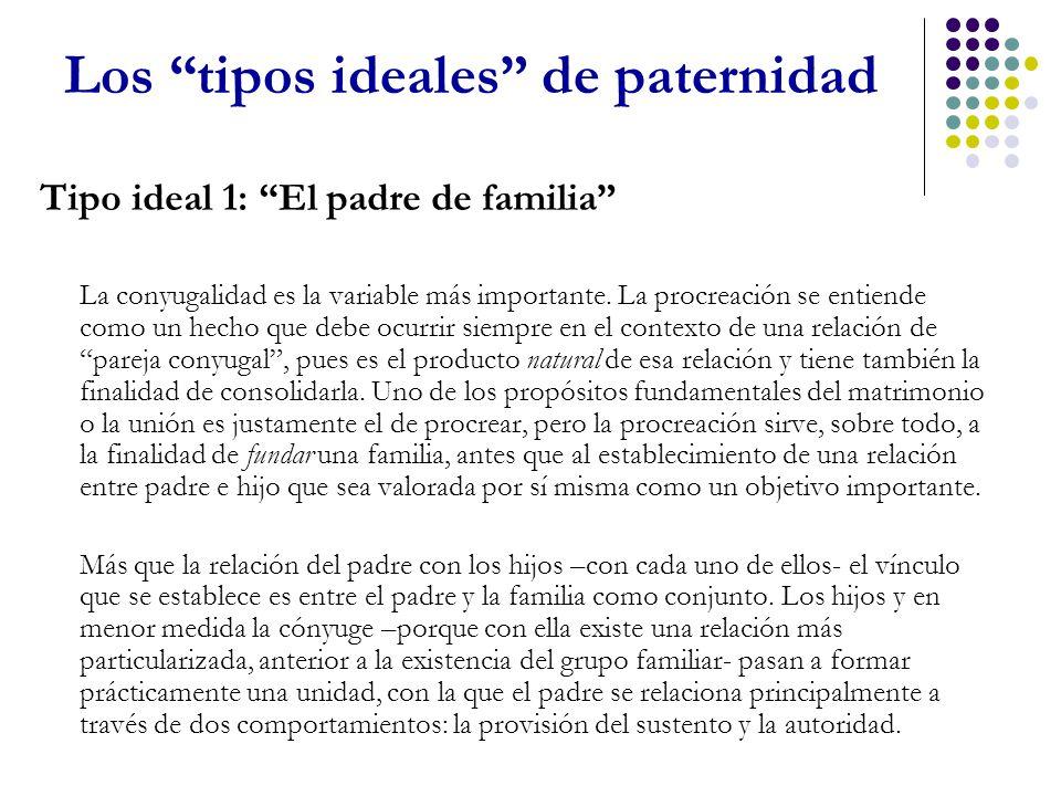 Los tipos ideales de paternidad