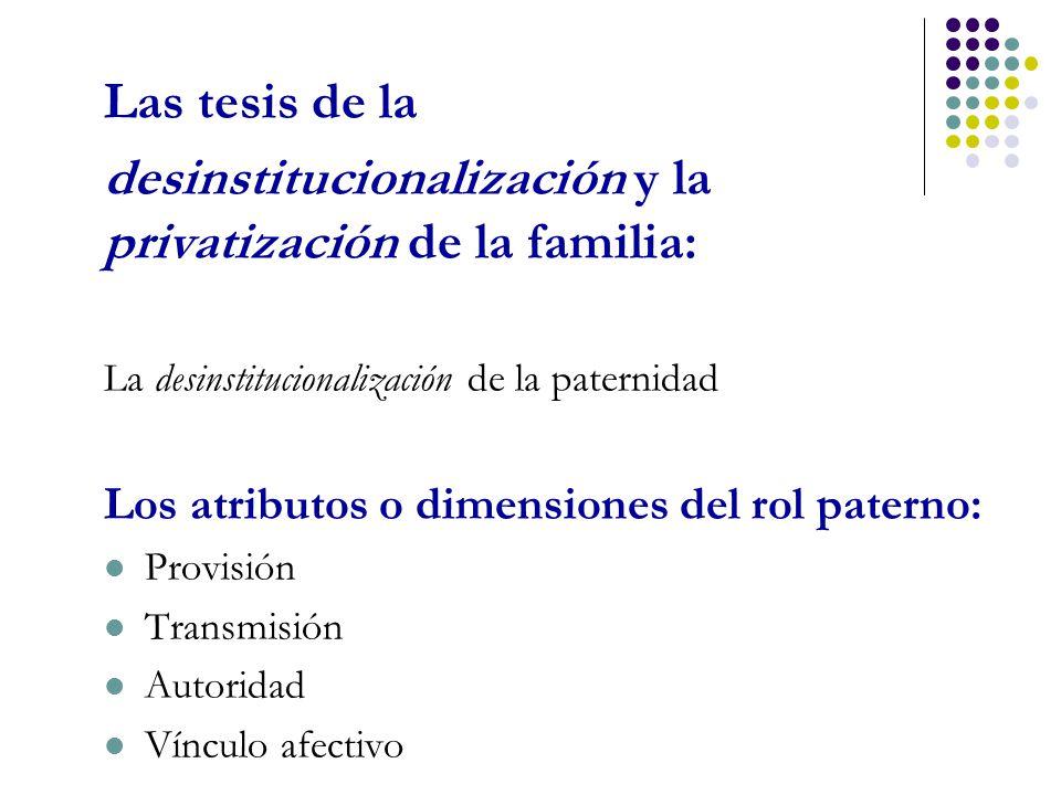 desinstitucionalización y la privatización de la familia: