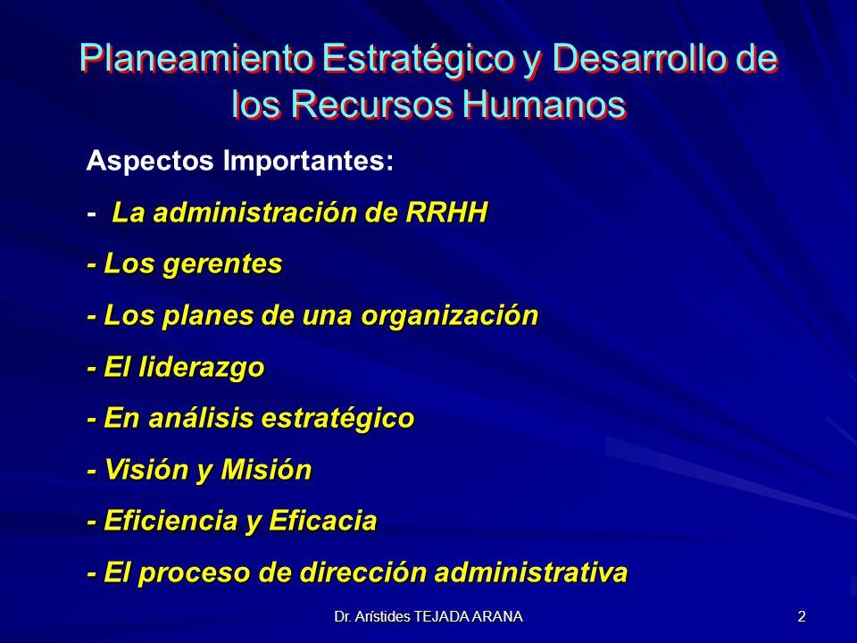 Planeamiento Estratégico y Desarrollo de los Recursos Humanos