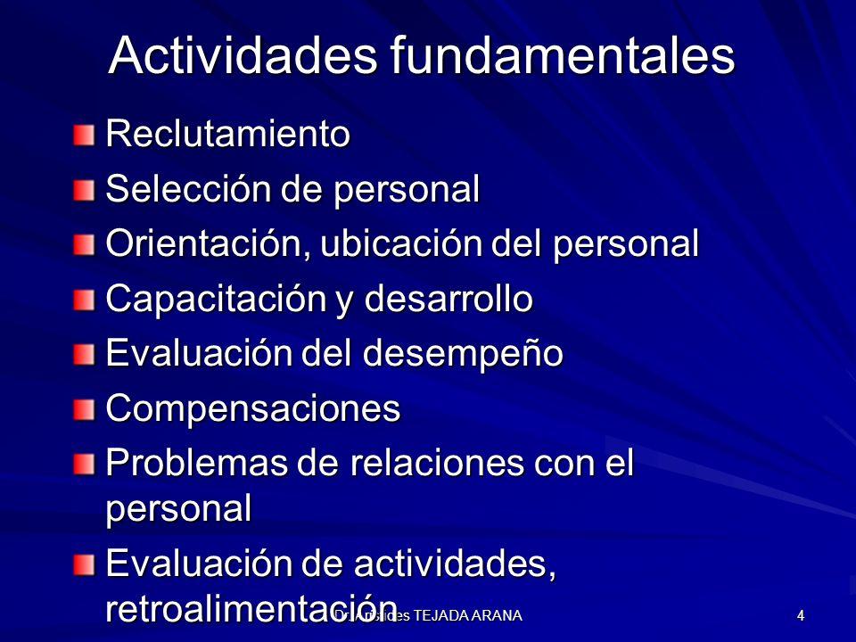 Actividades fundamentales