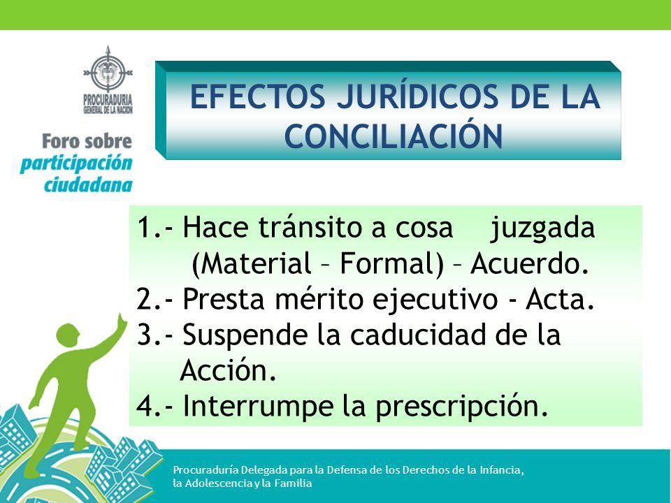 EFECTOS JURÍDICOS DE LA CONCILIACIÓN