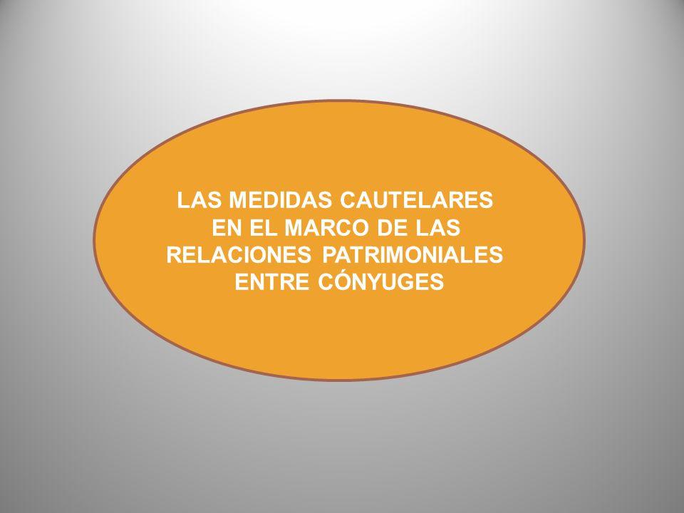 LAS MEDIDAS CAUTELARES RELACIONES PATRIMONIALES