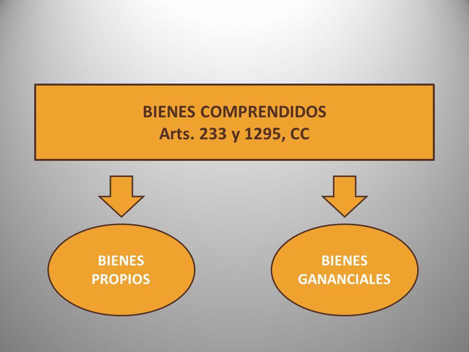 BIENES COMPRENDIDOS Arts. 233 y 1295, CC