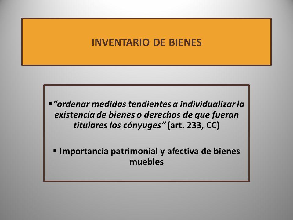 Importancia patrimonial y afectiva de bienes muebles