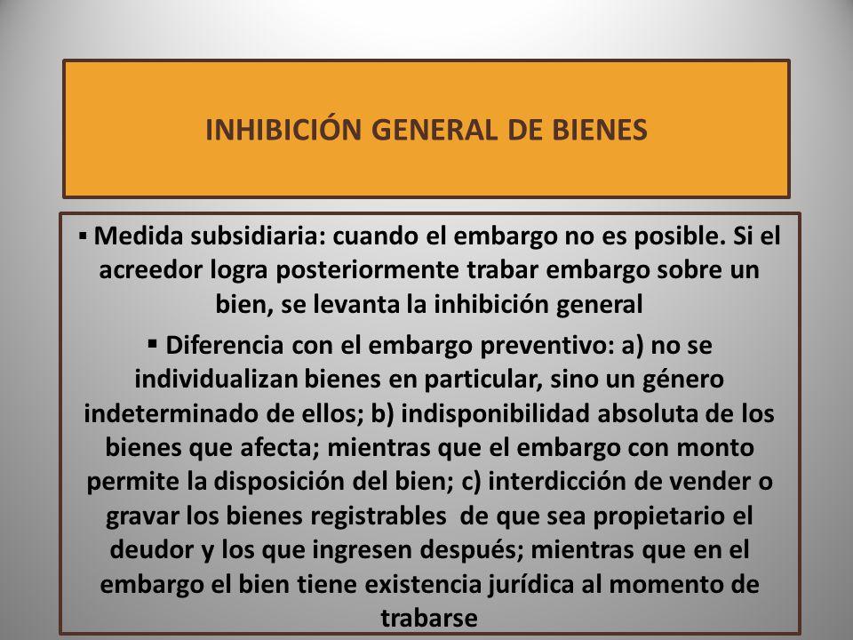 INHIBICIÓN GENERAL DE BIENES