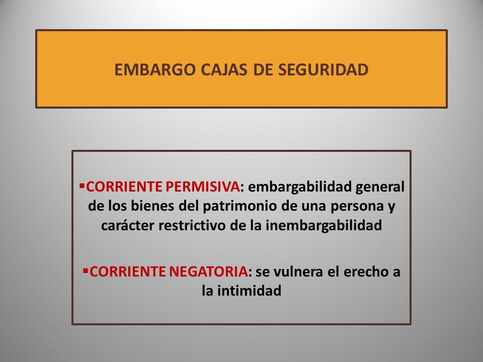 EMBARGO CAJAS DE SEGURIDAD