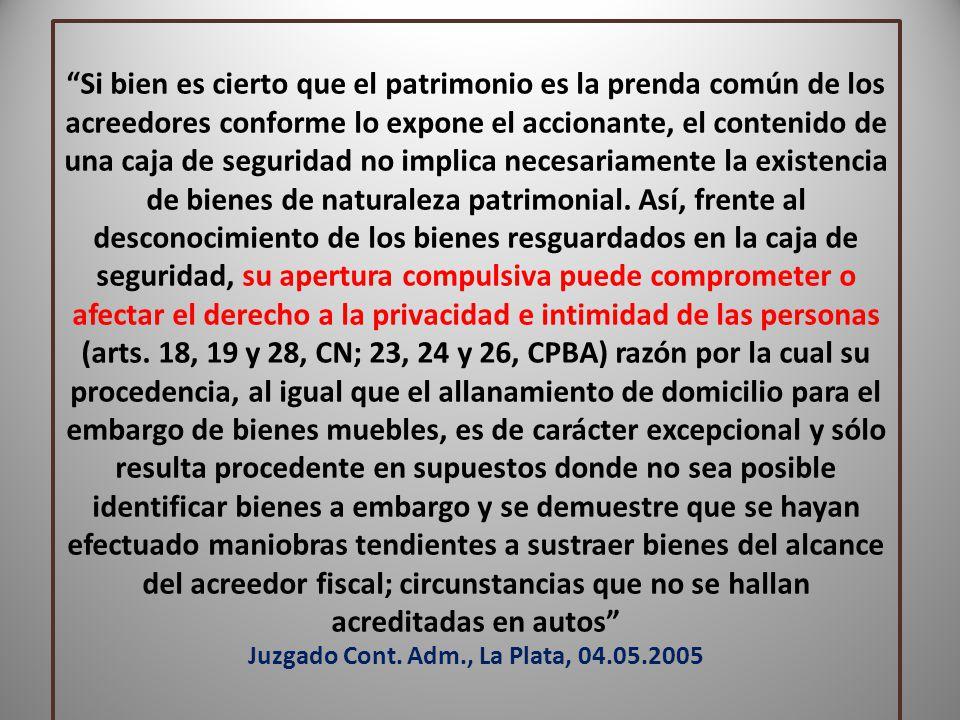 Juzgado Cont. Adm., La Plata, 04.05.2005