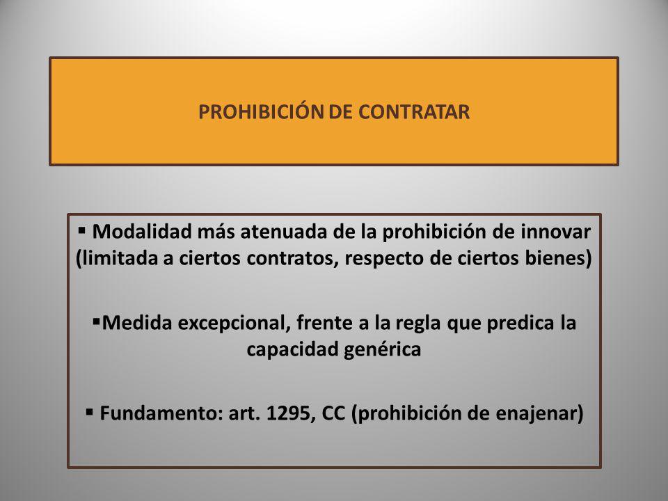 PROHIBICIÓN DE CONTRATAR