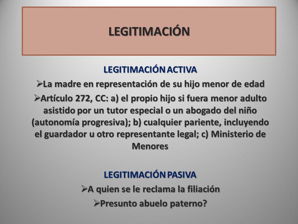 LEGITIMACIÓN LEGITIMACIÓN ACTIVA