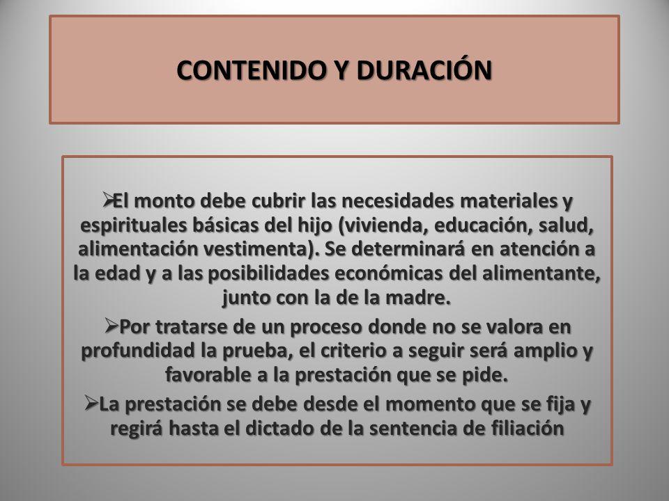CONTENIDO Y DURACIÓN