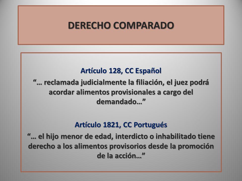 DERECHO COMPARADO Artículo 128, CC Español