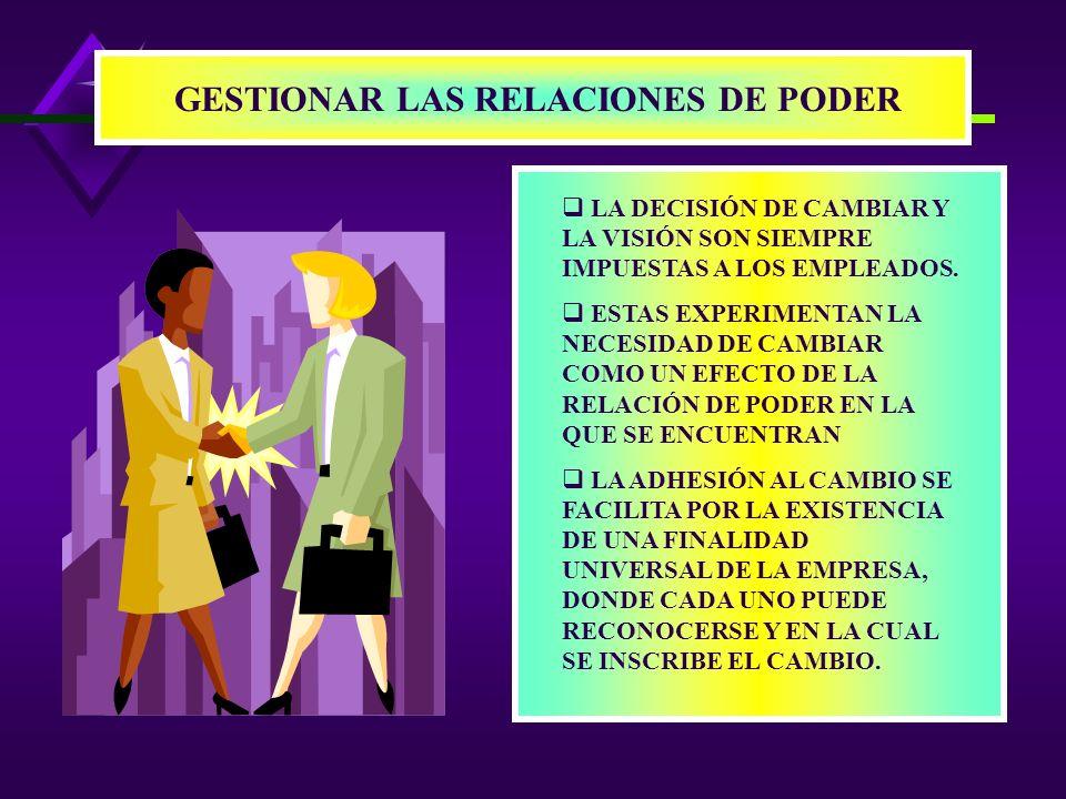 GESTIONAR LAS RELACIONES DE PODER