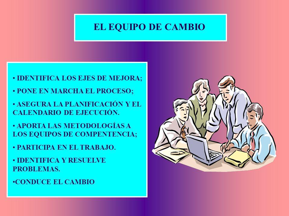 EL EQUIPO DE CAMBIO IDENTIFICA LOS EJES DE MEJORA;