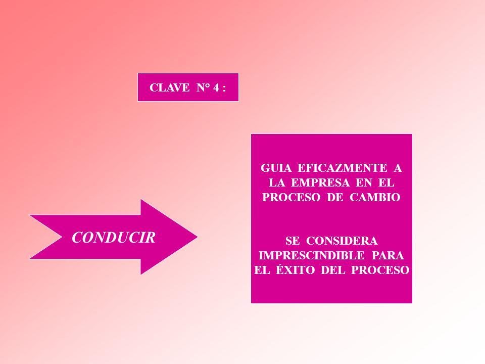 CONDUCIR CLAVE N° 4 : GUIA EFICAZMENTE A LA EMPRESA EN EL