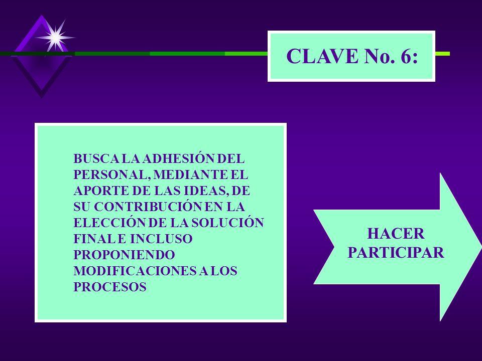 CLAVE No. 6: HACER PARTICIPAR