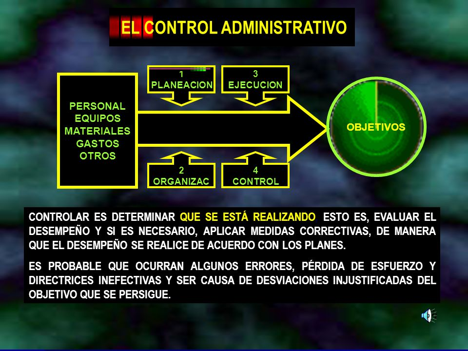 EL CONTROL ADMINISTRATIVO