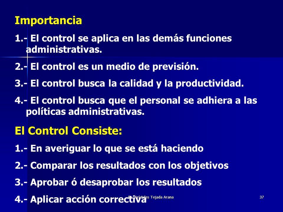 Dr. Arístides Tejada Arana