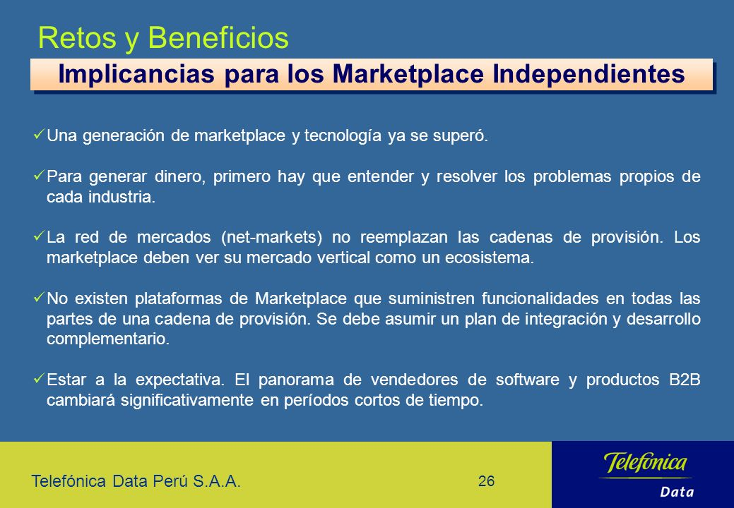 Implicancias para los Marketplace Independientes