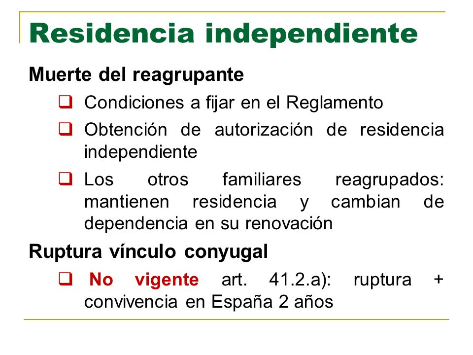 Residencia independiente